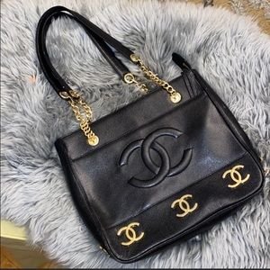 ✨CHANEL✨ Real Leather Tote Bag